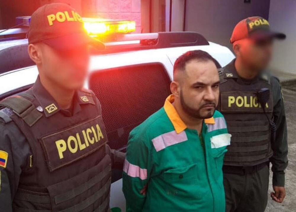 336374_BLU Radio. Capturado alias 'Agapo' en Bello / Foto: Policía