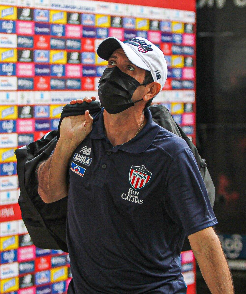 Arturo Reyes, técnico de Junior de Barranquilla. @JuniorClubSA.jpg