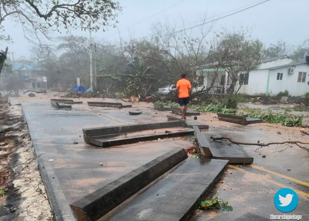 Devastación del huracán Iota en San Andrés