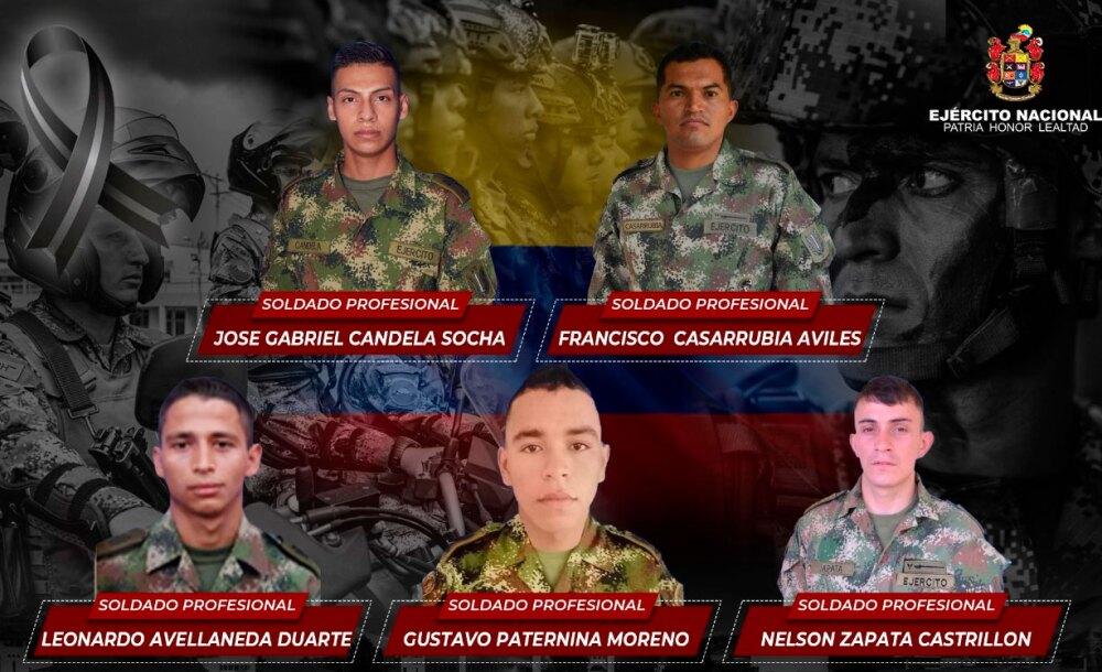 Soldados asesinados por el Clan del Golfo en Puerto Libertadores