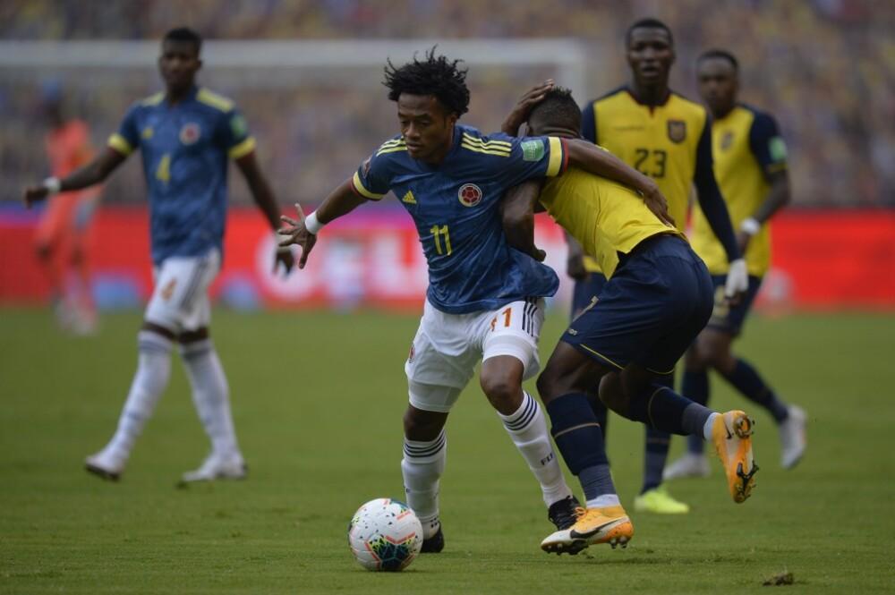 Juan Guillermo Cuadrado en partido ante Ecuador