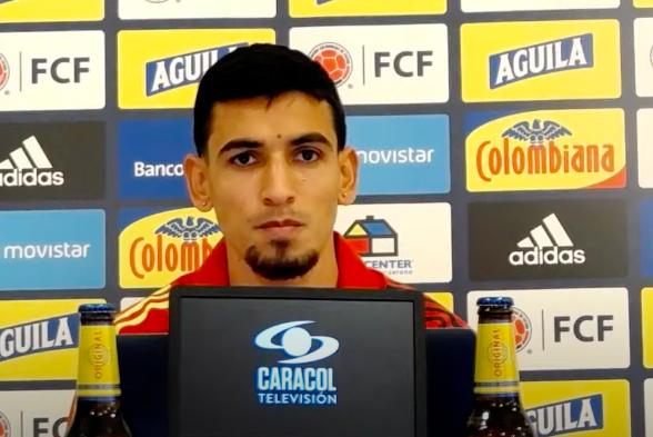 Daniel Muñoz rueda de prensa Colombia vs Uruguay
