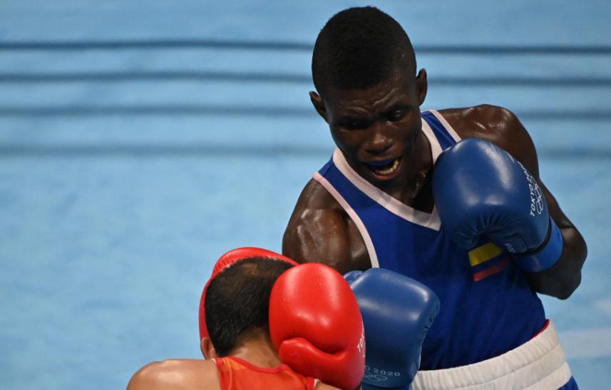 Yuberjen Martínez clasificó a cuartos de final del boxeo de los Juegos Olímpicos Tokio 2020.