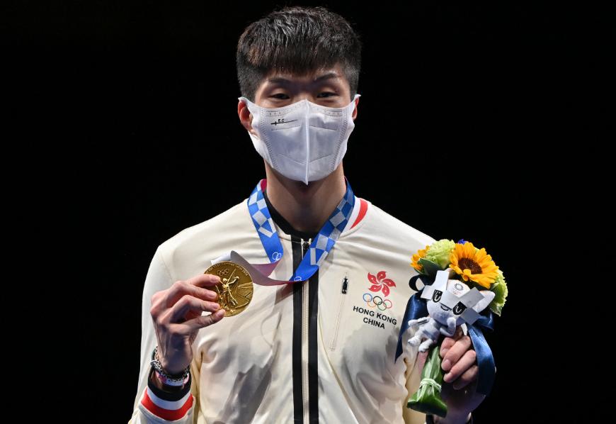 Cheung Ka Long ganó oro en el florete de la esgrima de los Juegos Olímpicos de Tokio 2020.
