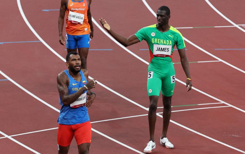 Anthony Zambrano disputará la final de los 400 metros en los Juegos Olímpicos Tokio 2020.