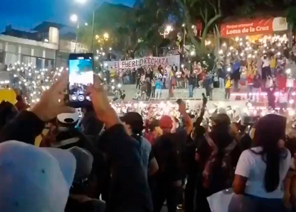 Protestas contra la reforma tributaria en Cali Foto Captura de video.jpeg