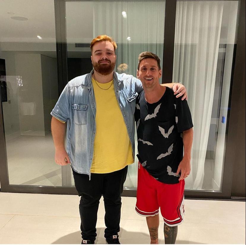Ibai Llanos y Lionel Messi
