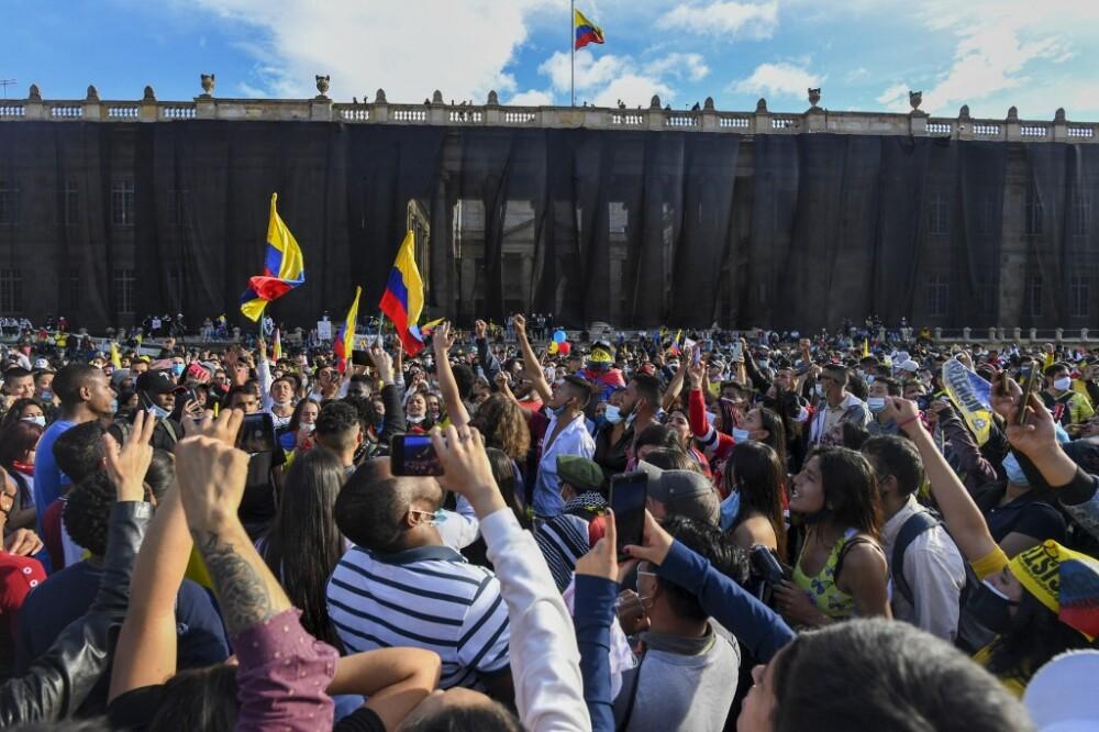 Manifestaciones en Colombia en el día 14 de paro nacional