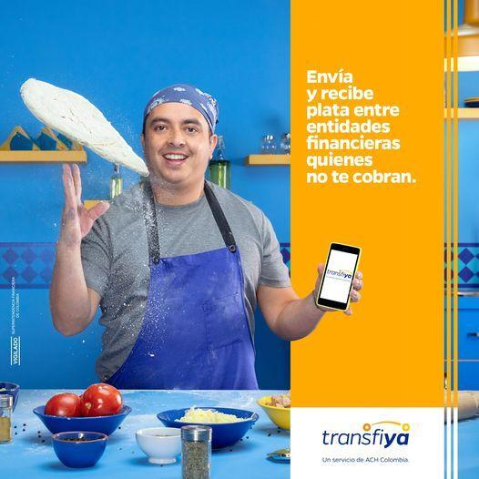 Transfiya, imagen publicitaria del servicio para enviar y recibir plata al instante