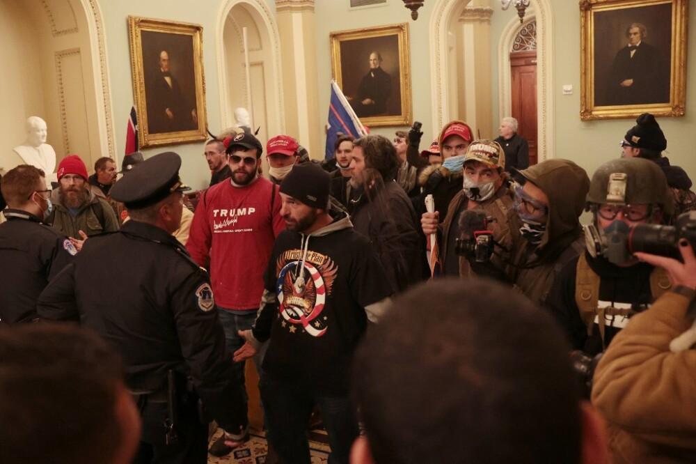 Manifestantes en el Capitolio de EEUU. Foto AFP