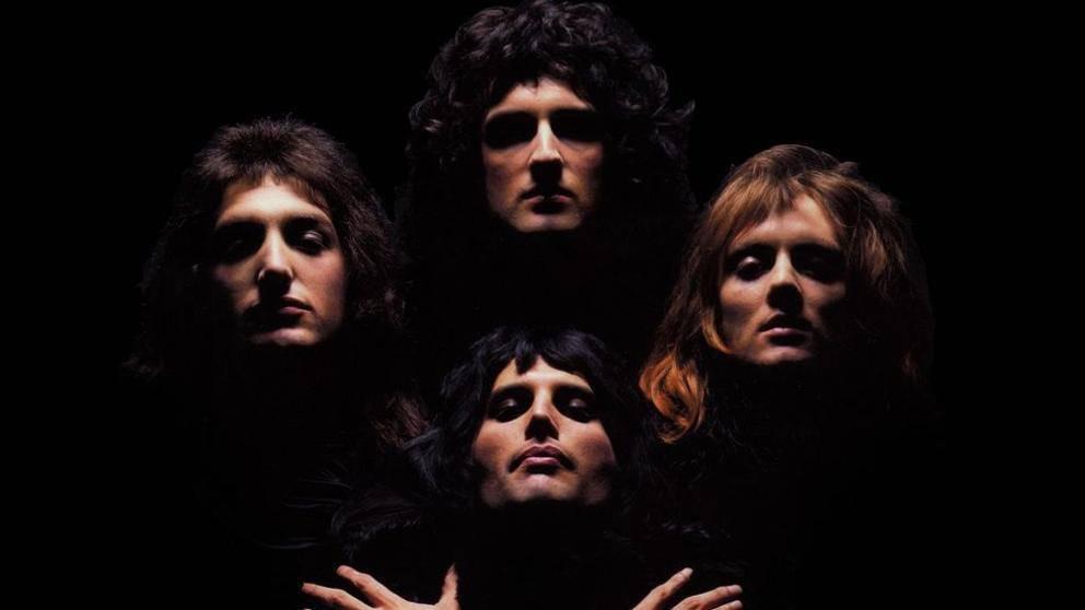 Foto de los integrantes de la banda británica Queen