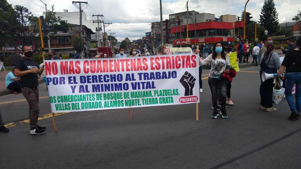 Bloqueos en Bogotá este 16 de abril