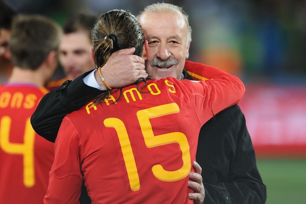 Vicente Del Bosque y Sergio Ramos