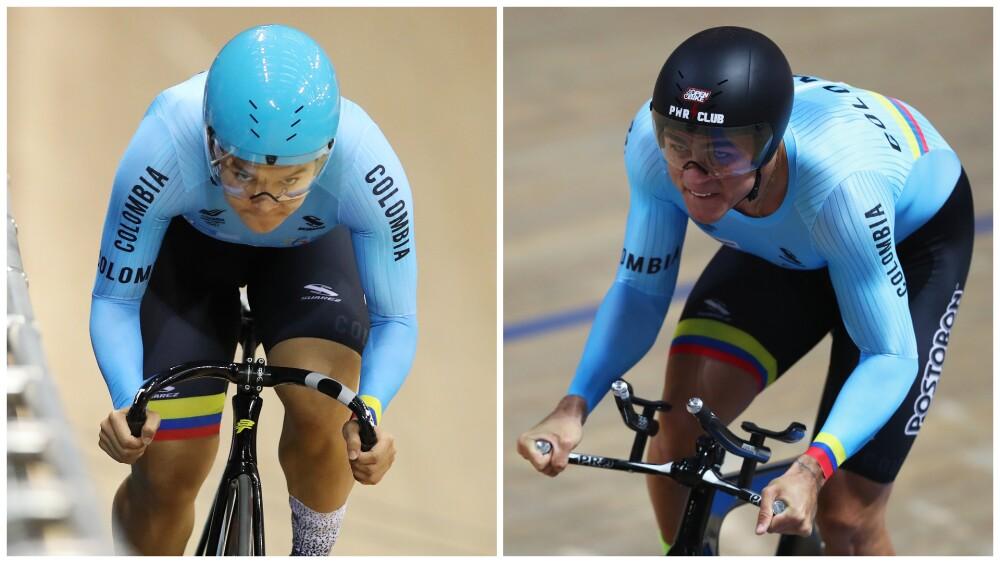 Martha Bayona y Santiago Ramírez, ciclistas colombianos