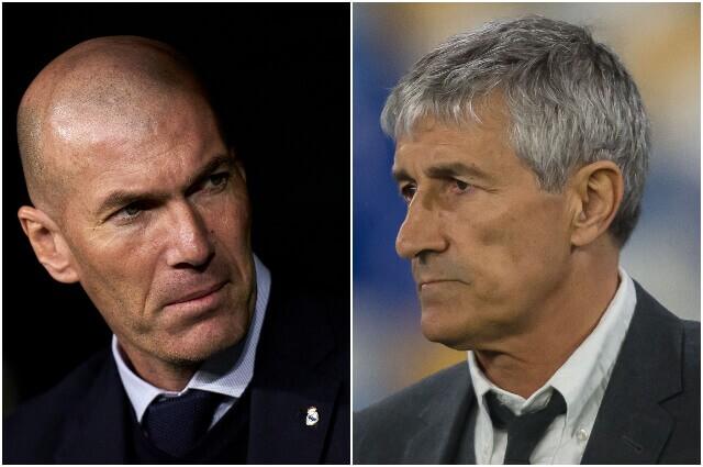 331847_Zinedine Zidane y Quique Setien.