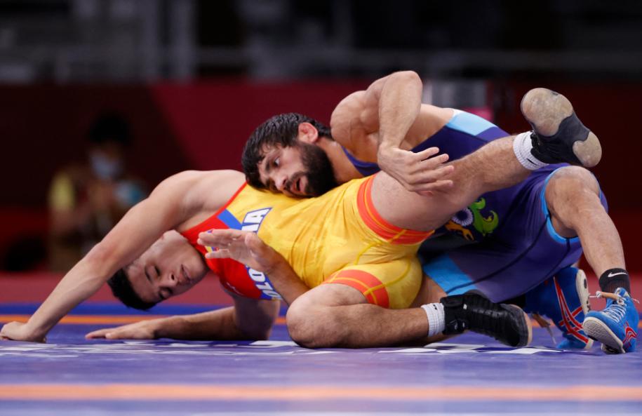 Óscar Tigreros perdió en la lucha libre de los Juegos Olímpicos Tokio 2020.