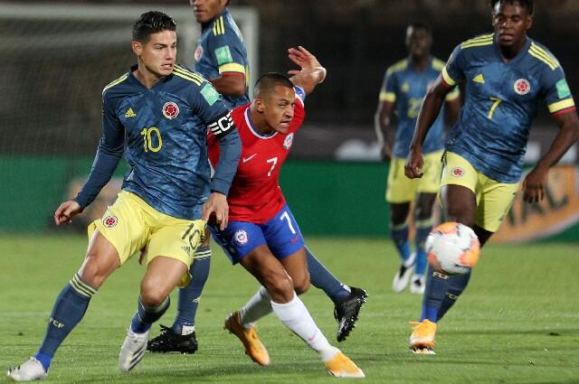 James Rodríguez y Alexis Sánchez, en Eliminatorias Sudamericanas