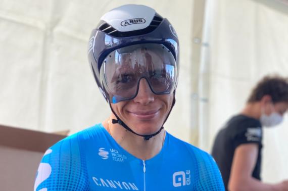 Miguel Ángel López fue puesto 20 en el prólogo del Tour de Romandía.