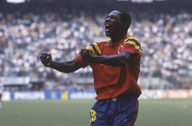 337789_Freddy Rincón celebrando su gol frente a Alemania