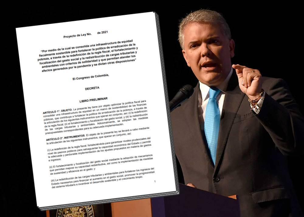 Iván Duque - proyecto de reforma tributaria