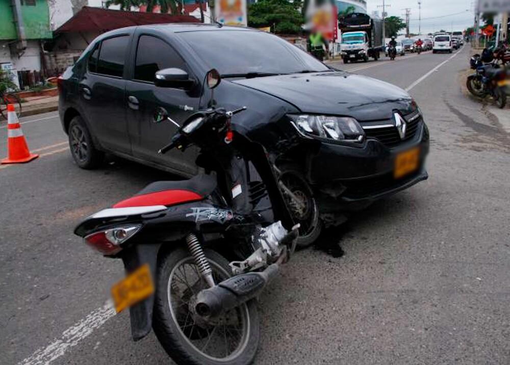 356228_Accidente de moto / Foto: Twitter @ansvcol