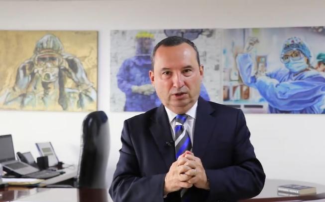 Secretario de Salud Alejandro Gómez López