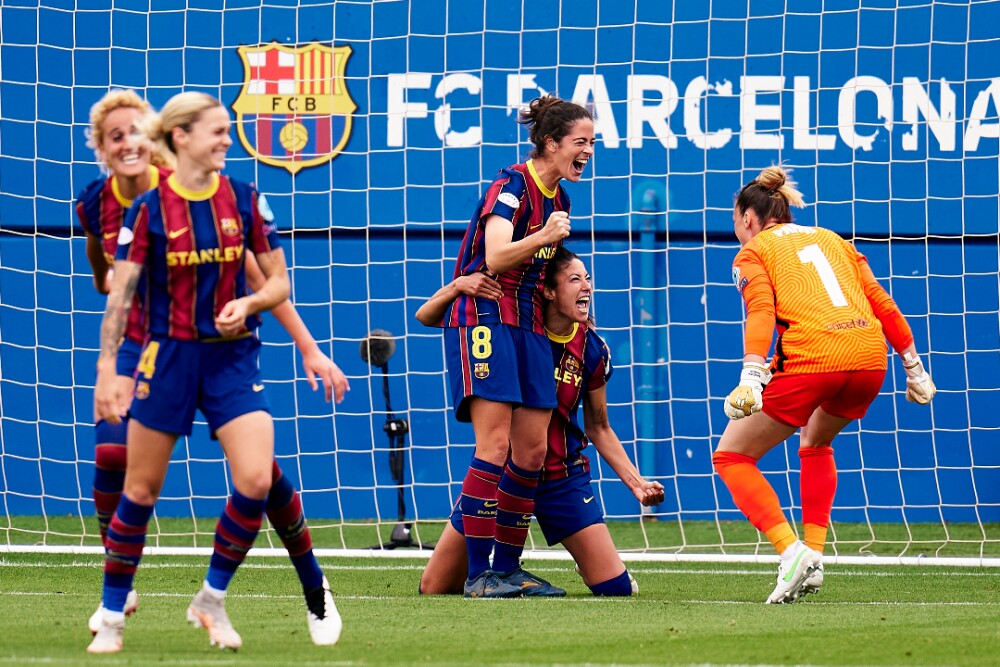 Barcelona Femenino celebra 020521 Getty Images .jpg