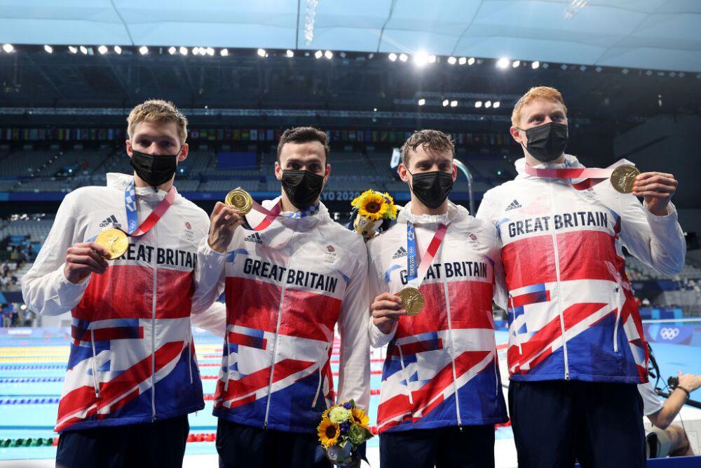 Equipo británico de nado 4X200 m