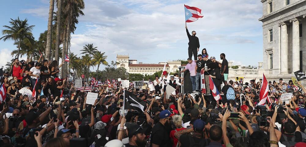 642132_Bad Bunny y Residente en Puerto Rico - Foto: Joe Raedle, Gettyimages