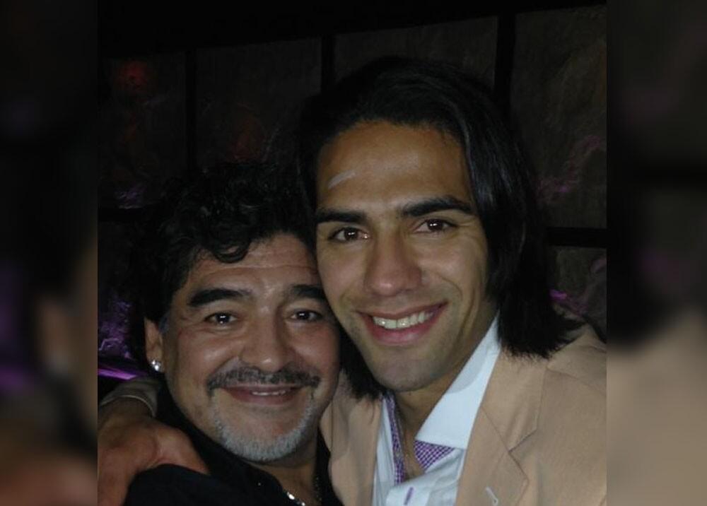 Diego Maradona y Falcao García. Foto Twitter Falcao García