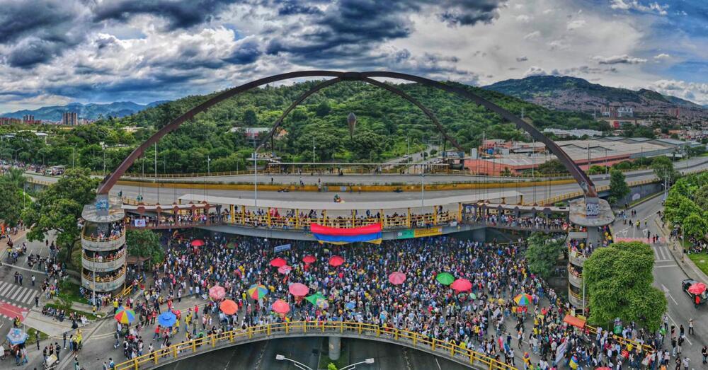 Movilizaciones en Punto Cero, Medellín.jpg