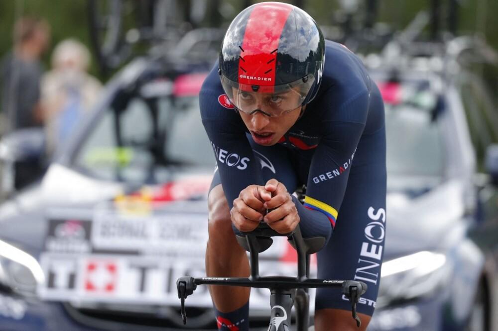Egan Bernal en el Giro de Italia 2021 en la primera etapa contrarreloj //