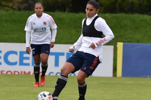 María Morales, jugadora de la Selección Colombia Femenina