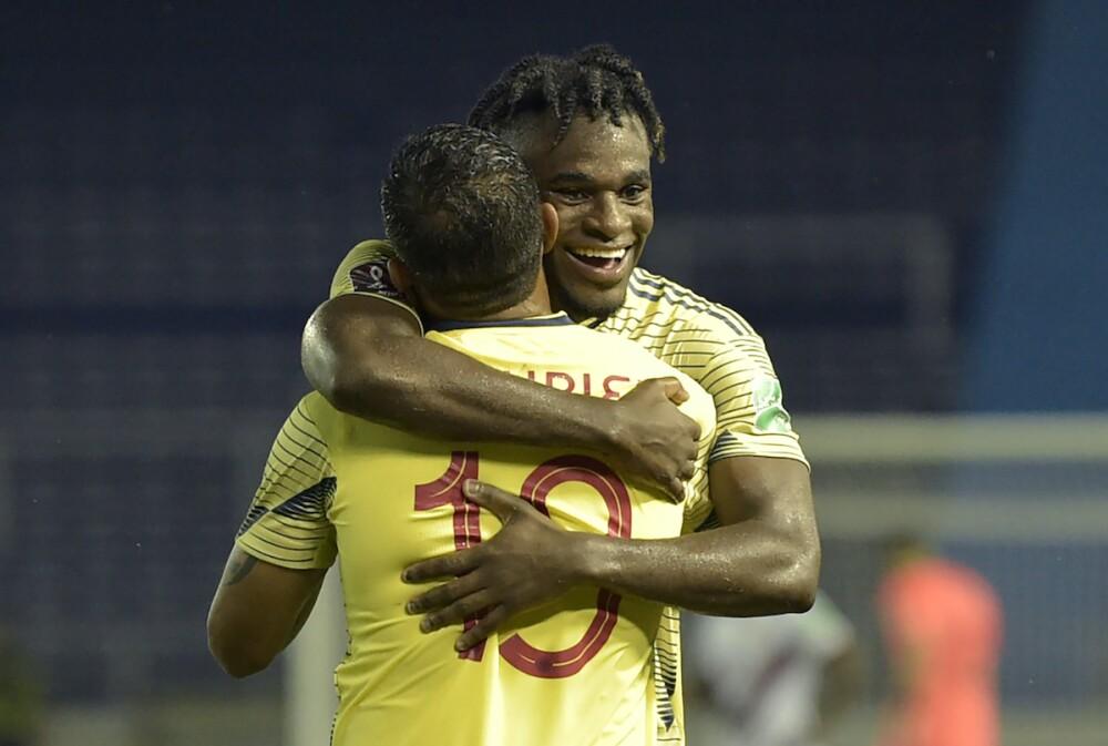Selección Colombia, Duván Zapata y Luis Muriel / AFP
