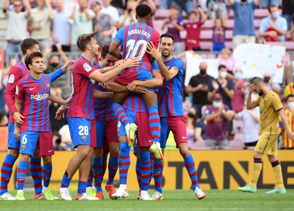 Ansu Fati marcó el tercer gol en el 3-0 del Barcelona sobre Levante Foto AFP.jpg