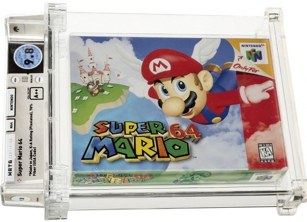 Copia de Super Mario 64, en perfecto de estado, se vendió por 1,5 millones de dólares