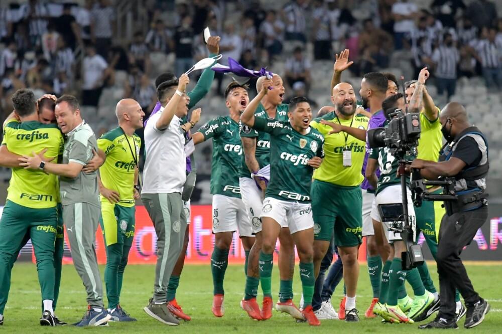 Celebración de Palmeiras en Copa Libertadores
