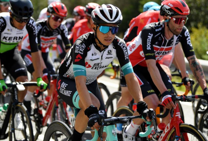 Esteban Chaves fue segundo en la etapa 3 de la Vuelta a Cataluña.
