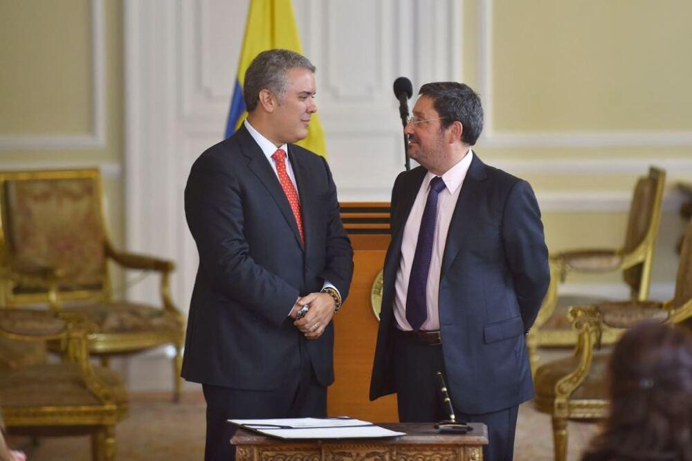 314811_BLU Radio. Ivan Duque y Francisco Santos / Foto: Presidencia
