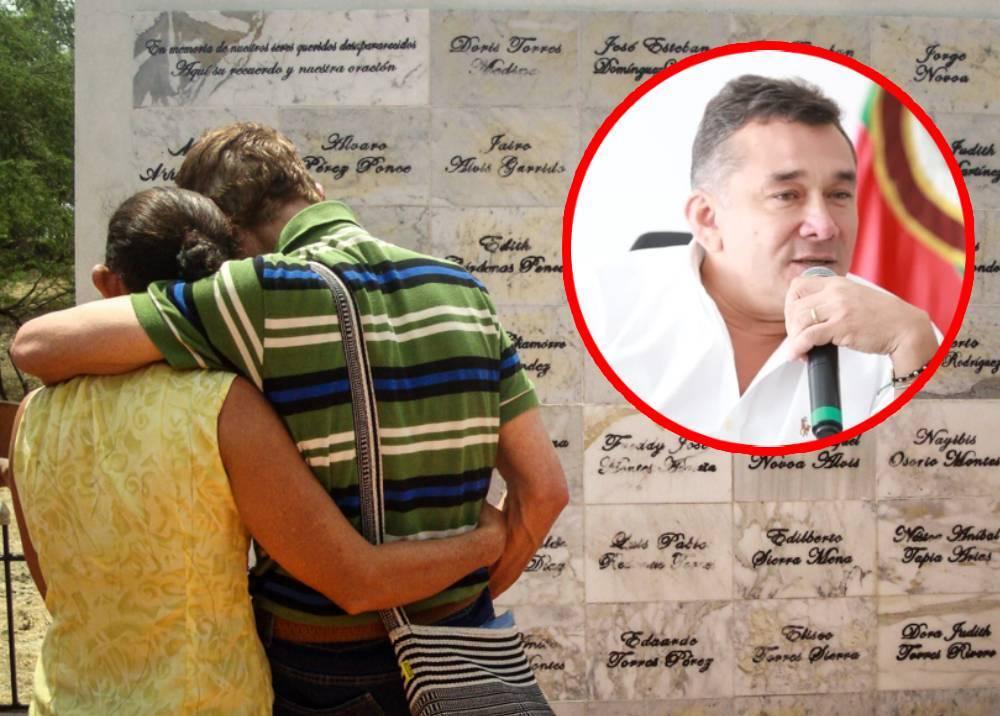 Víctimas de la masacre de El Salado - alcalde Carlos Torres de Carmen de Bolívar