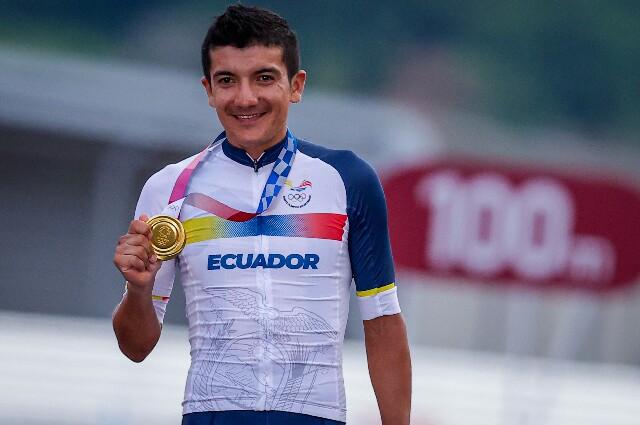 Richard Carapaz, en los Juegos Olímpicos