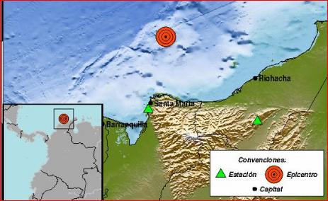 Sismo, Temblor, Santa Marta