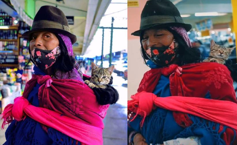 Abuelita y gatito