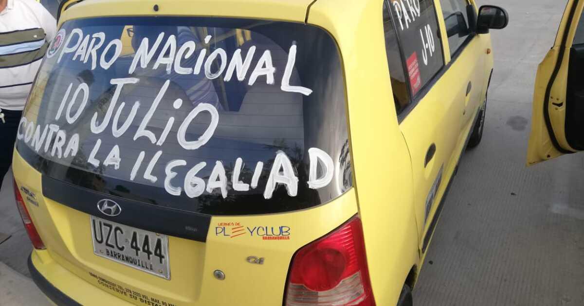 Ojo con los trancones! Estas son las rutas del paro de taxistas en  Barranquilla