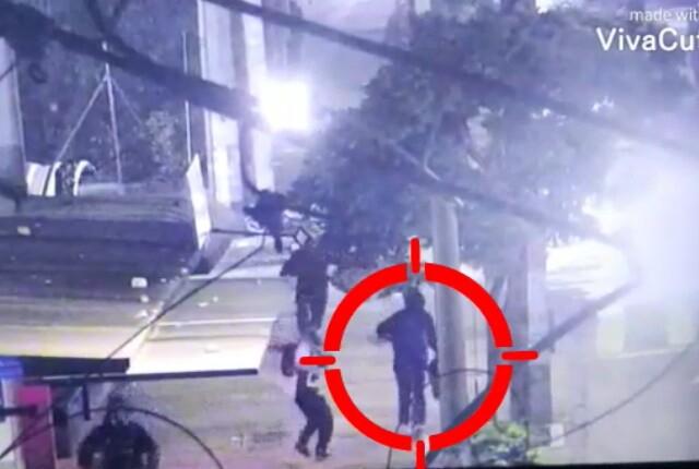 encapuchado disparó contra el Esmad en Medellín