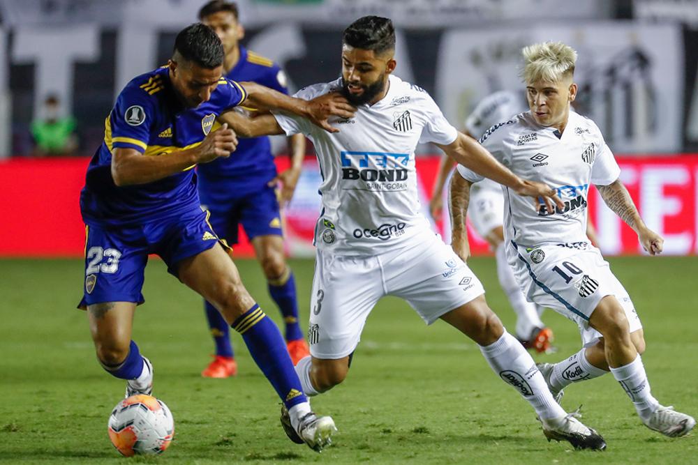 Partido entre Santos y Boca Juniors. AFP.png