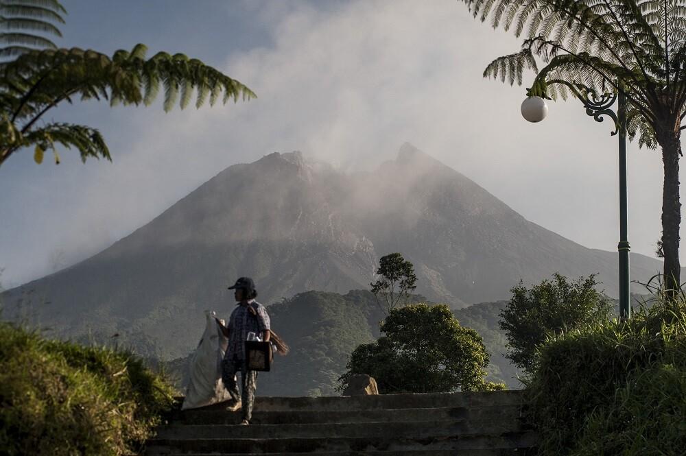volcán Merapi en Indonesia