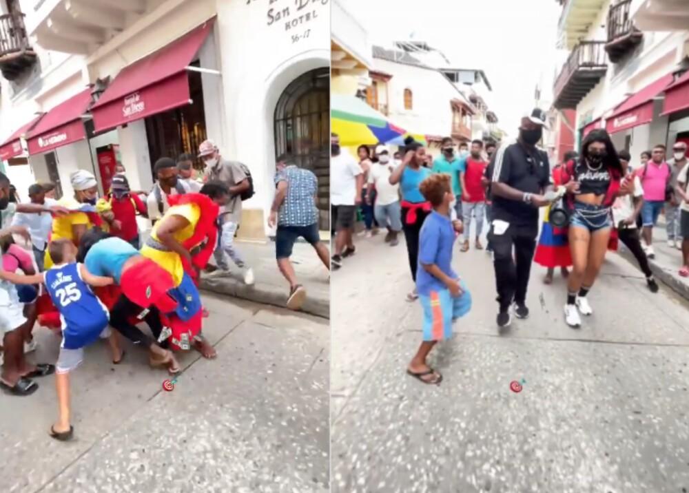Pareja de extranjeros repartió dinero en calles de Cartagena.jpg
