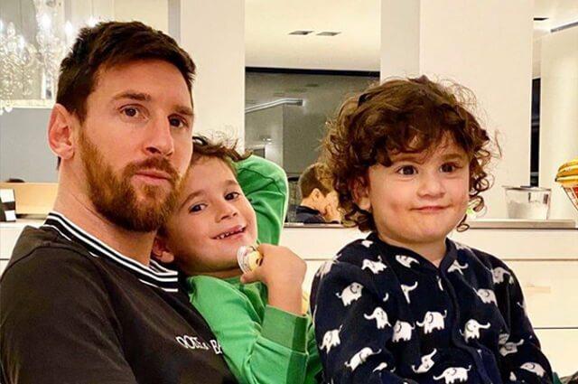332850_Lionel Messi y sus hijos