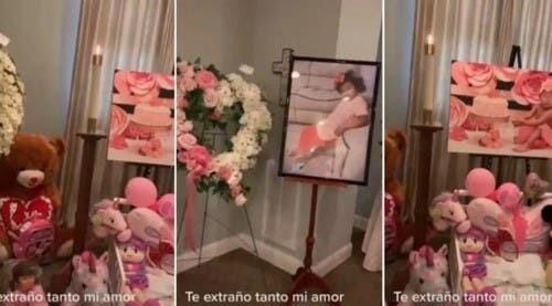 Mujer le da último adiós a su hija